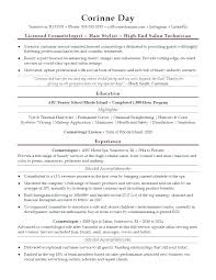 Cosmetology Resume Examples Delectable Resume For Cosmetology Cosmetologist Resume Sample Resume
