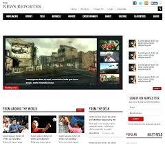 Website Template Newspaper Free Bootstrap Magazine Website Template Magazine Website