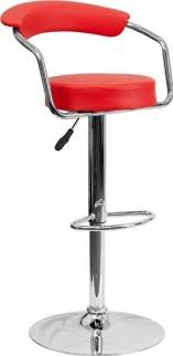 red retro chairs. Retro Kitchen Home Office Den Chrome Frame Bar Counter Stools Chairs 9-Colors #1060 Red A