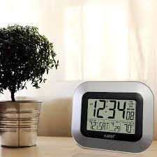 digital office wall clocks digital. Amazon.com: La Crosse Technology (WS-8115U-S) Atomic Digital Wall Clock With Indoor And Outdoor Temperature: Home \u0026 Kitchen Office Clocks O