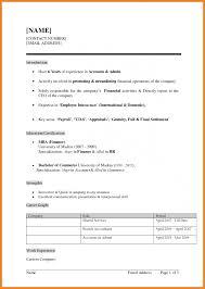 Fresher Resume Format Teller Sample It Download Graduate Templates B