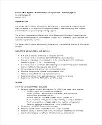 unix system administrator job description linux administrator job description