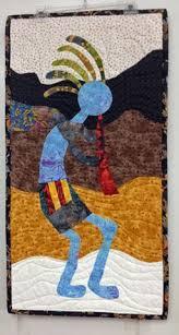 Southwestern Art Quilt Pattern Kokopelli Applique and Piece ... & kokopelli wall hanging Adamdwight.com