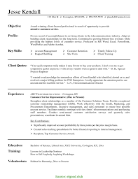 Excellent Customer Service Representative Resume Template Resume
