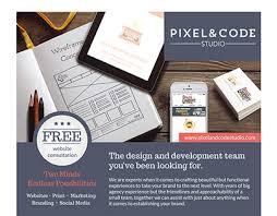 Small Design Studio Website Pixel Code Studio Branding Website Flyer