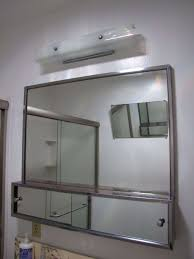 Wood Medicine Cabinet With Mirror Bathroom Simple Contemporary Varnished Wood Rectangle Laminated