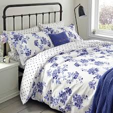 inky blue floral bedding  inky chinoiserie at bedeck
