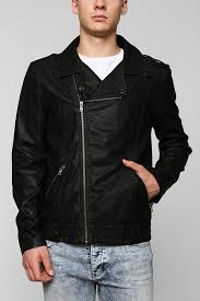 black leather biker jackets urban outfitters charles 12 asymmetrical faux leather moto jacket