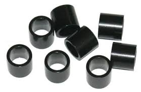 skateboard bearing spacer. bones black skate bearing spacers - image 1 skateboard spacer s