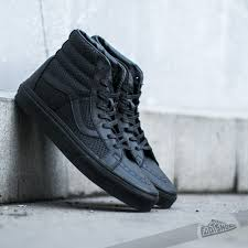 vans sk8 hi reissue snake leather black