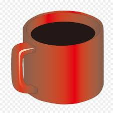 coffee cup mug cylinder red glass image