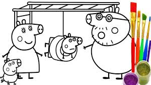 Small Picture How to Draw Peppa Pig PlayGround Coloring Pages Kid Drawing