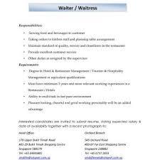 Example Of A Job Description For A Waiter Fresh Waitress Resume Job ...