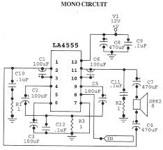 la4555 audio amplifier mono circuit electrical concepts la4555 audio amplifier mono circuit