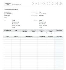 Sales Order Template Free Sales Order Form Template Product