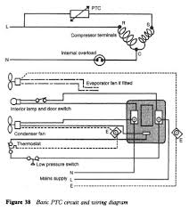 refrigerator electrical equipment and service refrigerator basic ptc circuit and wiring diagram