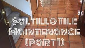 saltillo tile maintenance cleaning and restoring saltillo pavers