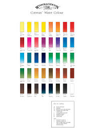 Winsor And Newton Cotman Watercolor Chart In 2019 Winsor