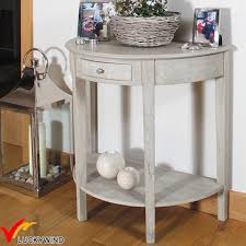 half moon console table. French Vintage Solid Wood Half Moon Console Table