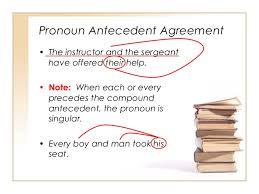 Pronoun Antecedent Agreement Grammar Pronoun Antecedent Agreement