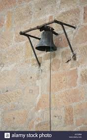 How To Hang Rope Lights On Brick Old Bell And Rope Hanging On A Brick Wall Stock Photo