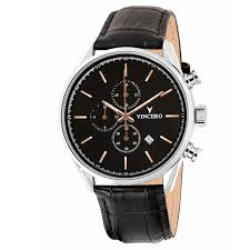 men s chronograph black rose gold watch vincero collective men s black rose gold chronograph