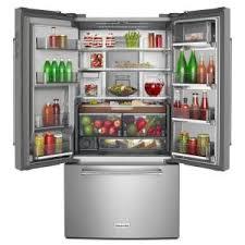kitchenaid refrigerator french door. +17. kitchenaid 36 in. w 23.8 cu. ft. french door refrigerator kitchenaid 3