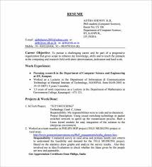 Sample Resume Format Pdf Gorgeous 48 Resume Templates For Freshers PDF DOC Free Premium Templates