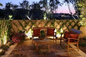 creative outdoor lighting ideas. Pond Lighting Ideas. Creative Fence Design Near Amusing Wooden Furniture On Nice Floortile Model Plus Outdoor Ideas