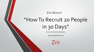 how to recruit people in days quick overview
