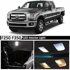 2012 F250 Light Bulb Chart Details About 20x White Interior Led Lights Bulb Package Kit For 1999 2016 Ford F250 F350