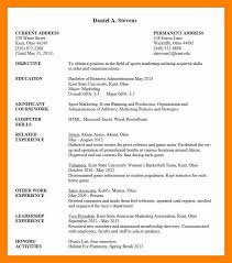 6 Undergraduate Student Cv Template Sushi Chef Sample Resume