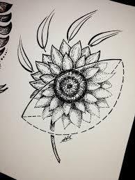 Antoniettaarnonearts On Twitter Sunflower Geometric Sketch Tattoo