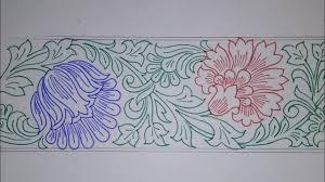 Saree Border Designs Images Border Design Draw Saree Border For Embroidery Designs