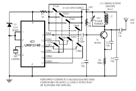circuit zone com electronic projects electronic schematics diy radio remote control using dtmf