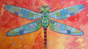 whimsical tribal dragonfly acrylic painting tutorial step by step art lesson easy how to