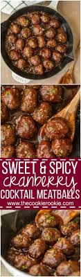 Sweet and Spicy Cranberry Cocktail Meatballs - The Cookie Rookie