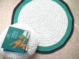 image of green round nursery rugs