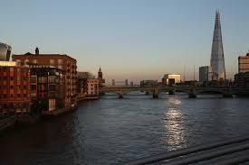 bridge river the shard london architecture travel