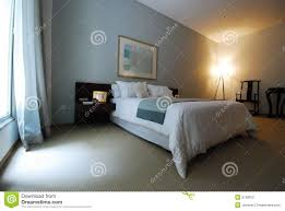 Expensive Bed Beautiful Expensive Bedroom With Big Window Stock Photography