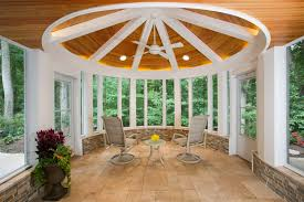 a circular screened porch professional deck builder porches design outdoor rooms