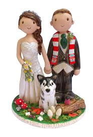 Wedding Cake Toppers Hand Crafted By Atop Of The Tier