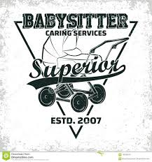 Babysitter Logo Vintage Emblem Design Stock Vector Illustration Of Nanny 102830278