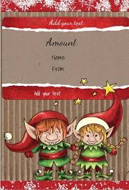 free printable christmas gift certificate templates free printable gift certificate template with two cute elves