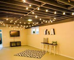 basement ceiling lighting ideas. Photo 2 Of 14 String Lights On The Ceiling For Extra Basement Lighting What Couldn\u0027t Use Ideas C
