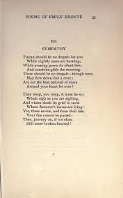 best emily bronte ideas wuthering heights   sympathy a poem by emily bronte