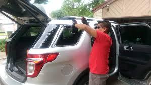 auto glass repair on white suv in houston tx