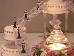 Red And White Wedding Cakes With Fountains Hasshecom