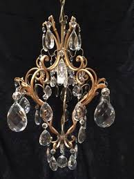 small italian one light antique chandelier