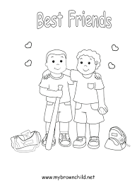 Small Picture Friendship Coloring Pages for Preschool Coloring Page for Kids